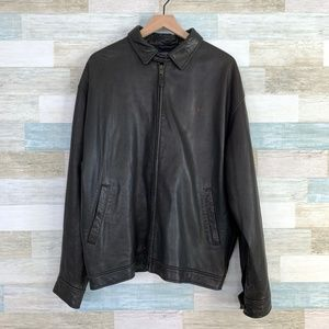 Leather Bomber Jacket Brown Polo Ralph Lauren